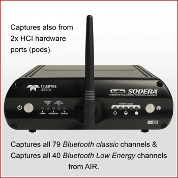 SODERA Captures All 79 Bluetooth Classic & all 40 Bluetooth Low Energy Channels from AIR