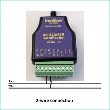 2-wire connection of ComProbe RS-422/485